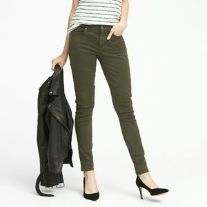 Banana Republic Olive green color Wax skinny
